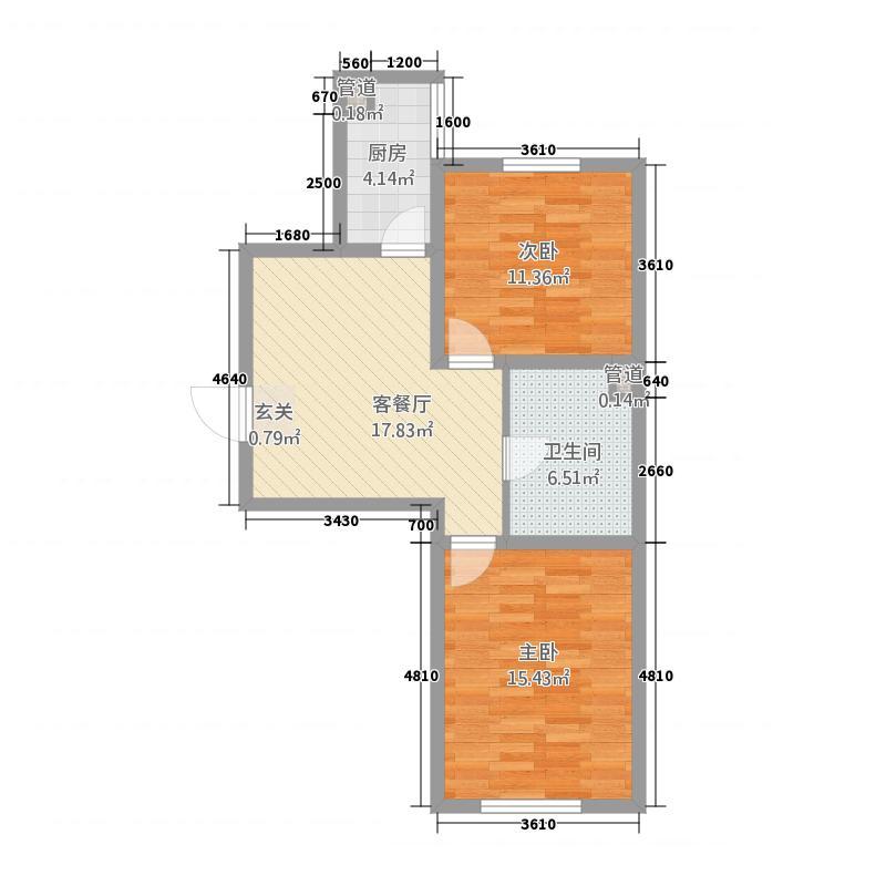 澳洲领地2275.62㎡E户型2室2厅1卫