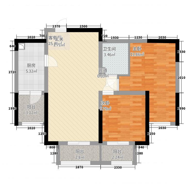 华远海蓝城33.20㎡一期户型3室5厅2卫1厨