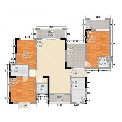 金融街中央领御3室1厅3卫1厨34142.00㎡户型图