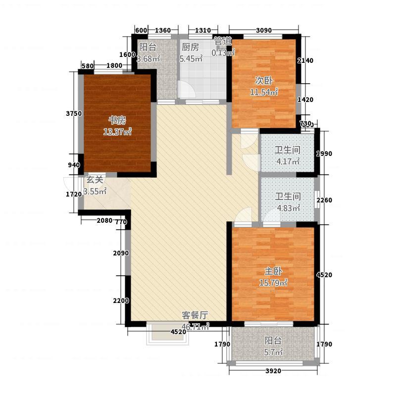 曲江・�邸34138.72㎡3号楼D4户型3室2厅2卫1厨