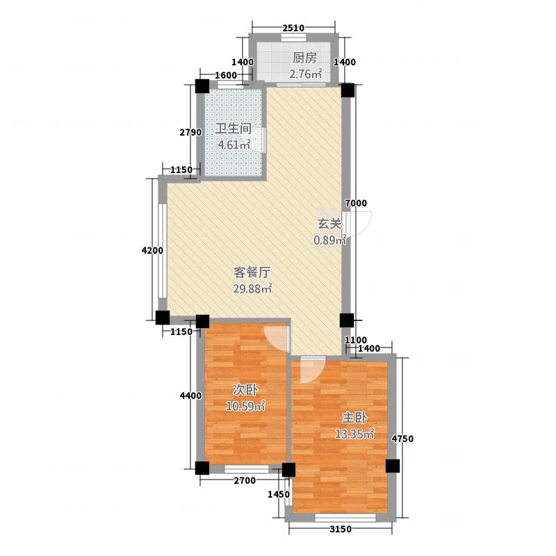 东盛澳景园285.12㎡户型2室2厅1卫