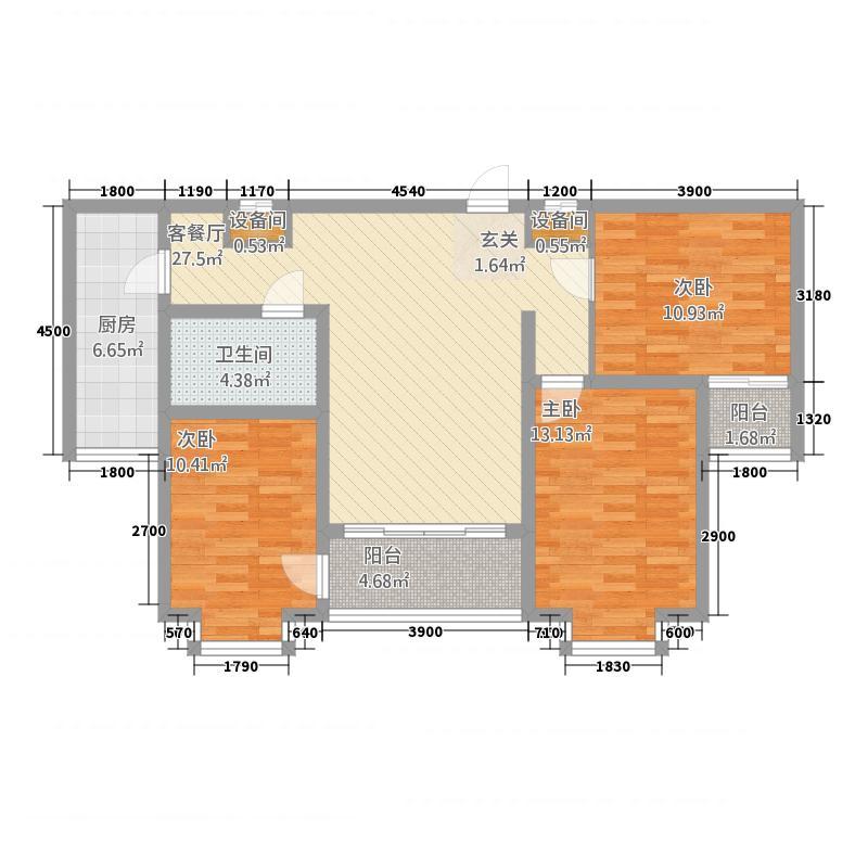 星河・文化大厦14.11㎡C户型3室2厅1卫