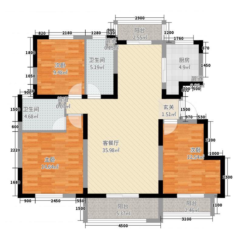 明发欧洲城一期-L户型3室2厅2卫1厨