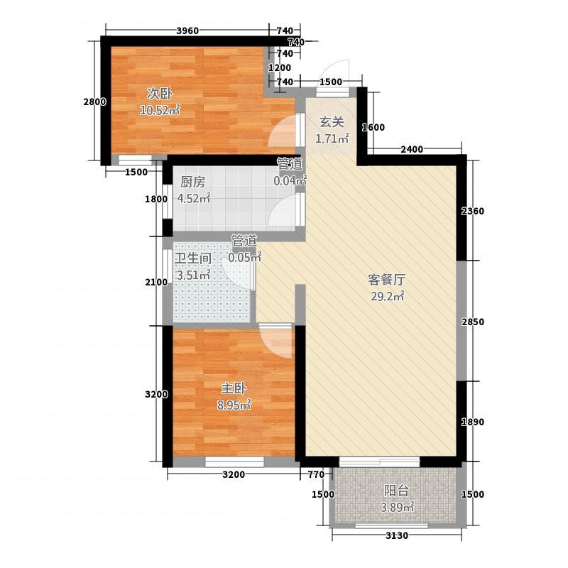 明发欧洲城3.20㎡-K户型3室2厅2卫1厨