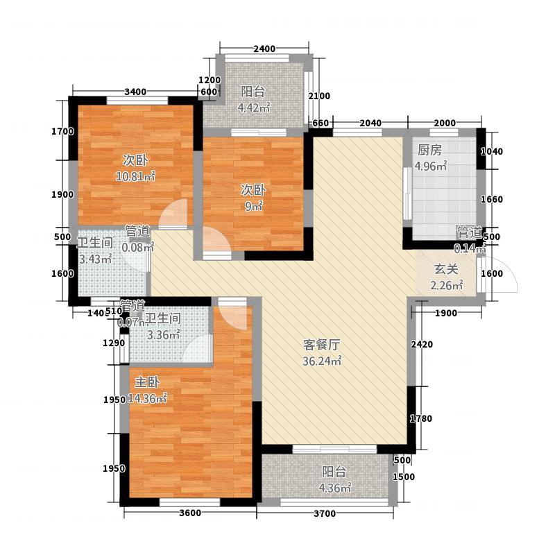 明发欧洲城一期-C户型3室2厅2卫1厨