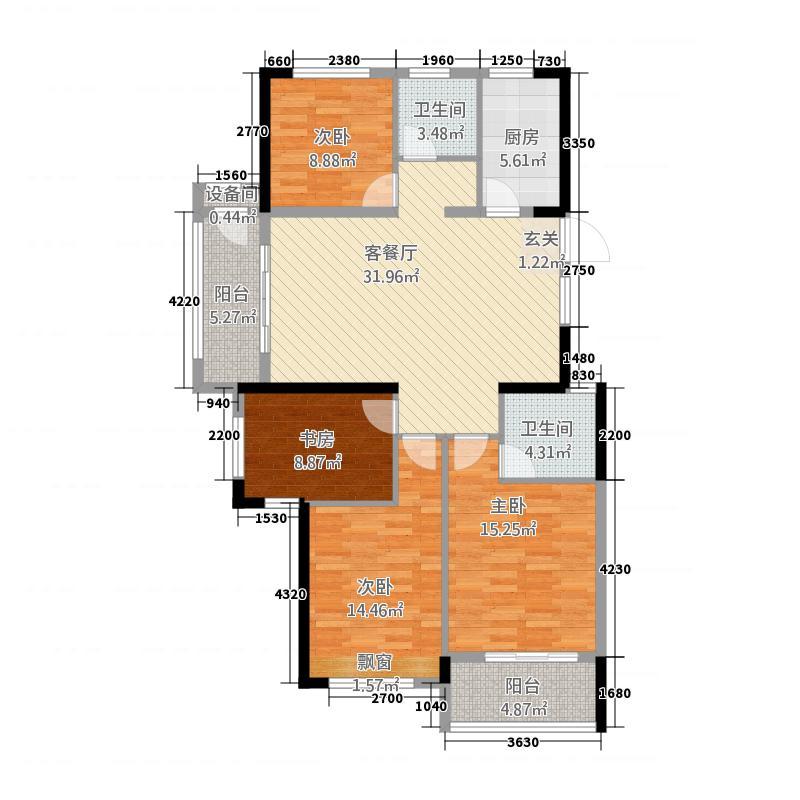 君悦玺园31133.20㎡C3-1户型4室2厅2卫1厨