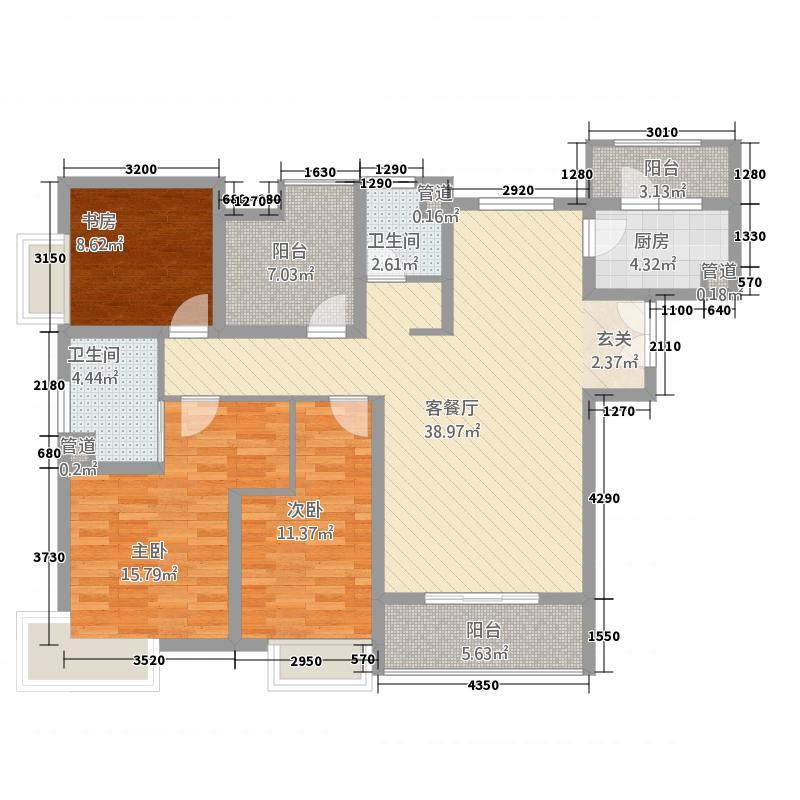 自然界55141.20㎡5号楼c5户型3室2厅2卫1厨
