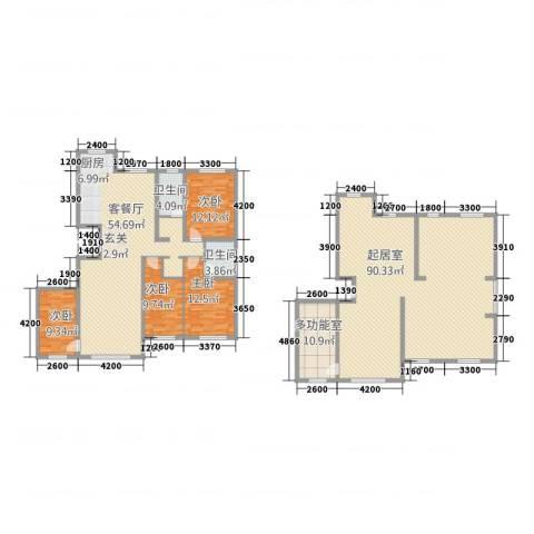 城润万家4室1厅2卫0厨207.57㎡户型图