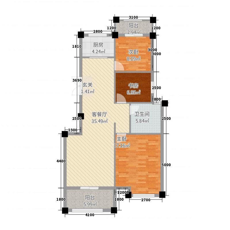 欣盛华庭15.20㎡户型3室2厅1卫1厨