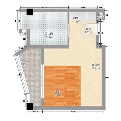 静海湾1厅1卫0厨7247.00㎡户型图