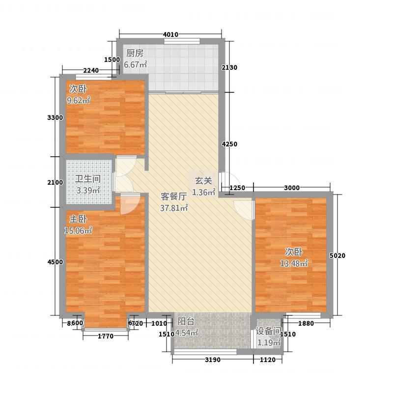恒昌未来城31.52㎡C户型3室2厅1卫1厨