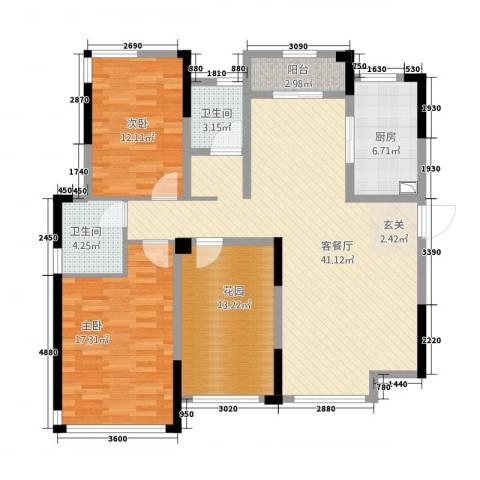 凯旋公馆2室1厅2卫1厨22123.00㎡户型图