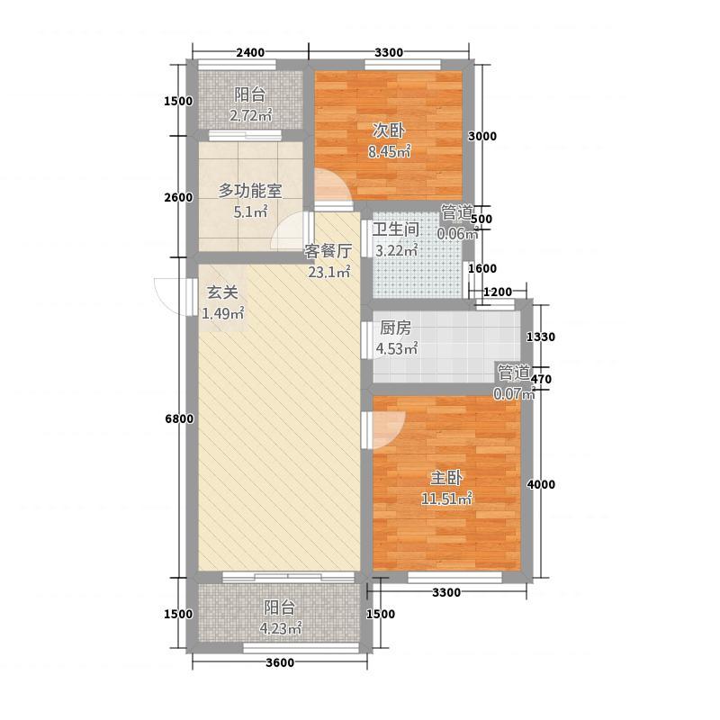 天业盛世国际E户型3室2厅1卫1厨
