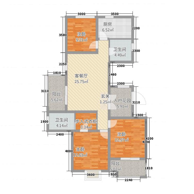 浅水湾・名门世家13.20㎡G户型3室2厅2卫1厨