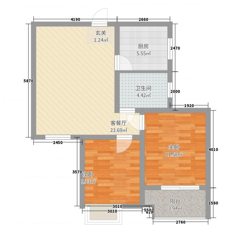 瑞城名邸422181.63㎡户型2室2厅1卫1厨