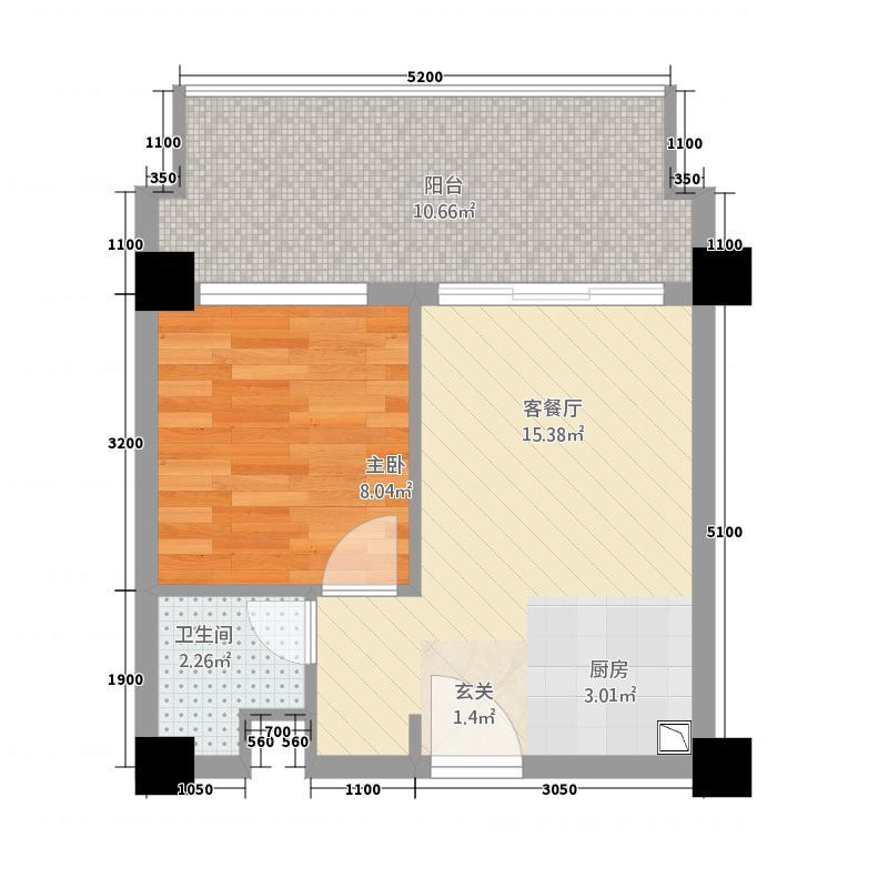 东方・天涯驿站314.62㎡A户型1室1厅1卫1厨