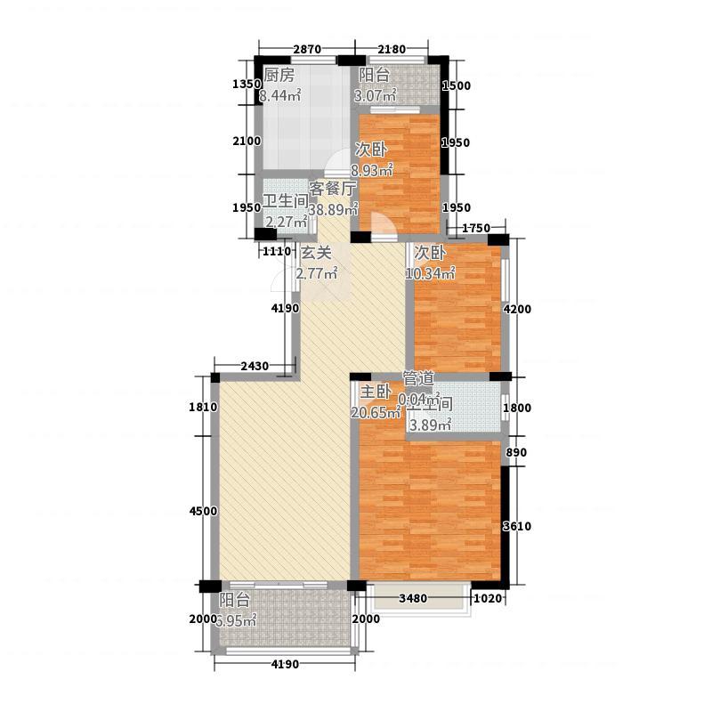 世贸花园四期143.83㎡户型3室2厅1卫1厨