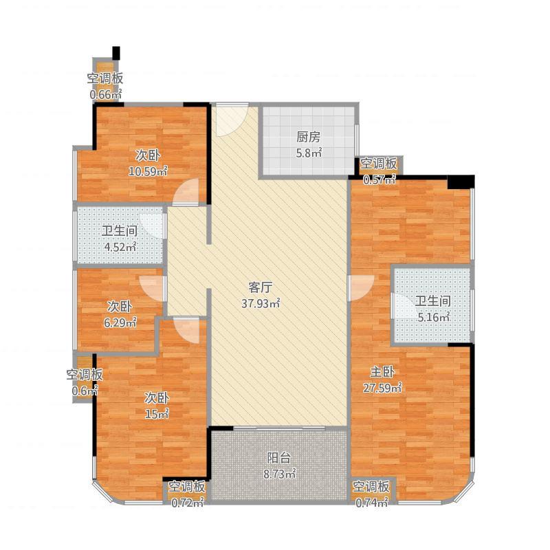 勤诚达22世纪二期 9号楼A/B座03户型4室2厅