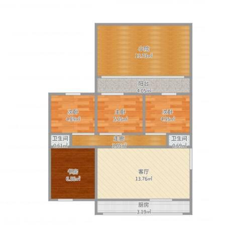东仓小区4室1厅2卫1厨84.00㎡户型图