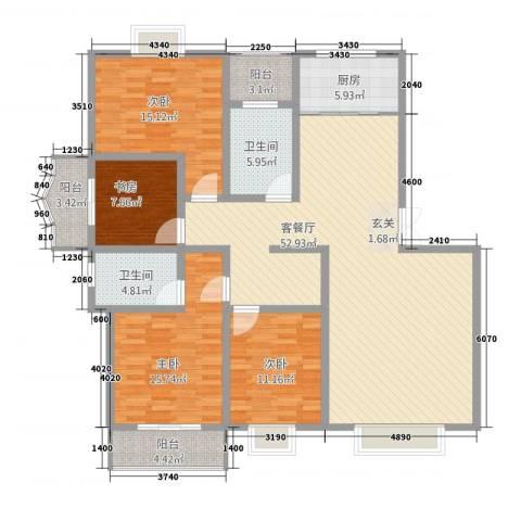 华晋佳苑4室1厅2卫1厨24187.00㎡户型图