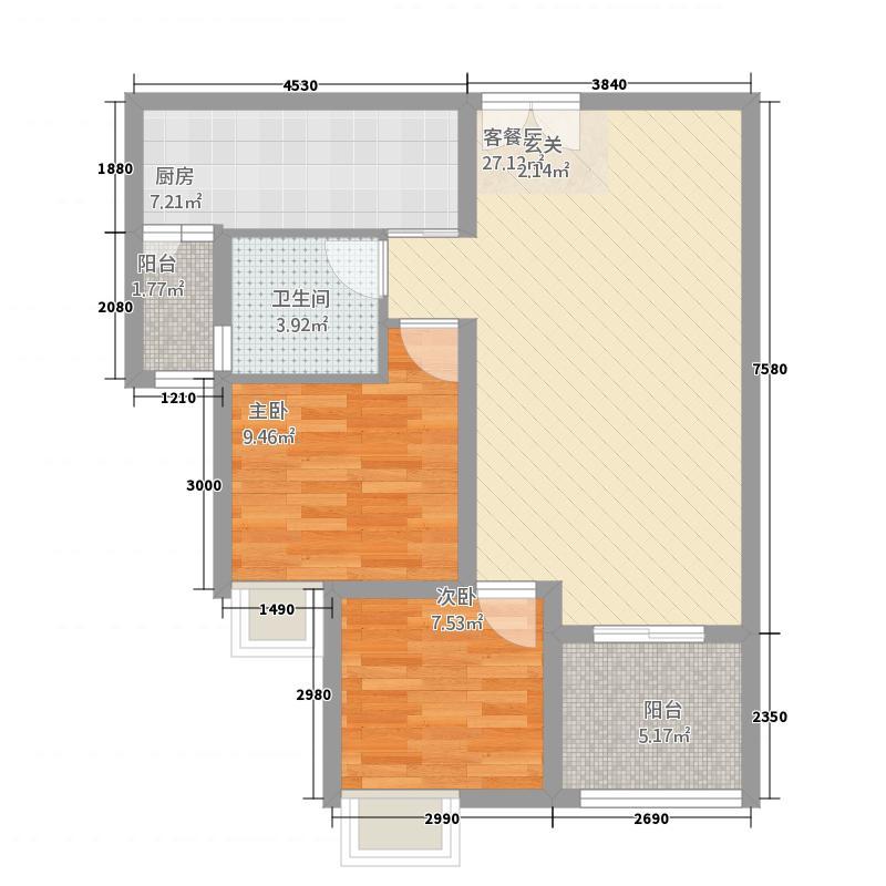 天仙湖・黄金海岸582.76㎡户型2室2厅