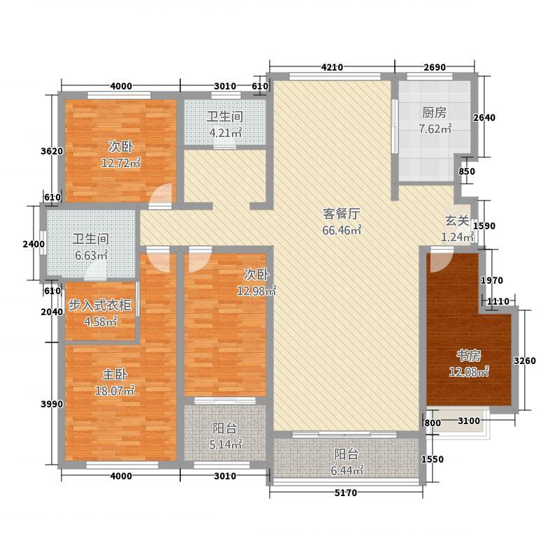 圣泽・舜城5315.20㎡C5户型3室2厅2卫1厨