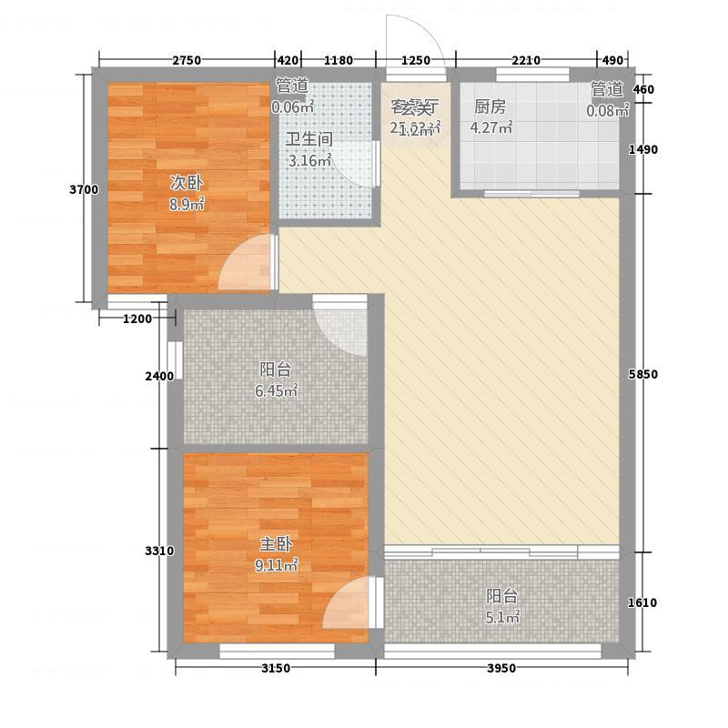 主语城32.20㎡D户型3室2厅1卫1厨