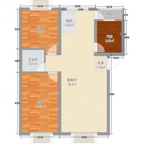 华晋佳苑3室1厅1卫0厨233.00㎡户型图