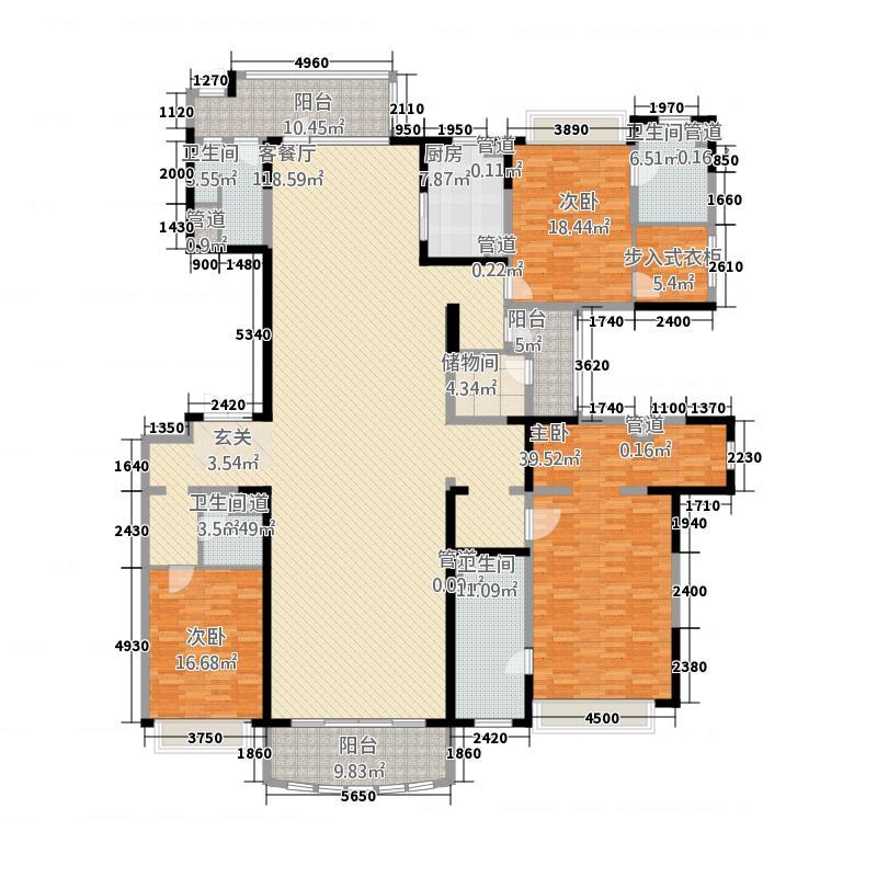 敏捷・畔海御峰1322.20㎡1座01单元02单元3室户型3室2厅4卫2厨