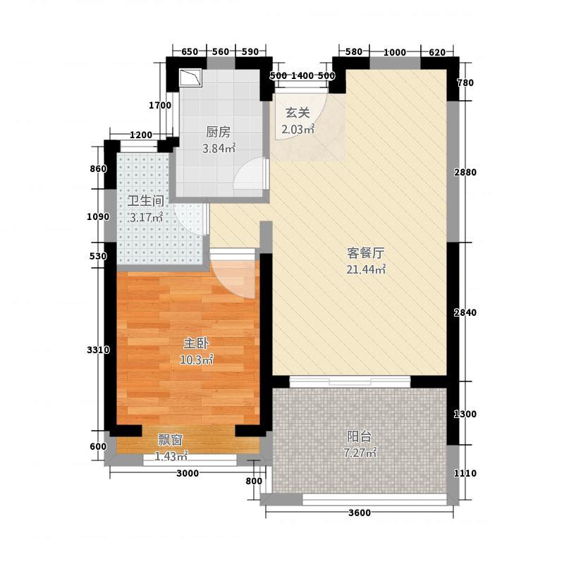 帝景湾23155.88㎡02、03户型1室2厅1卫1厨
