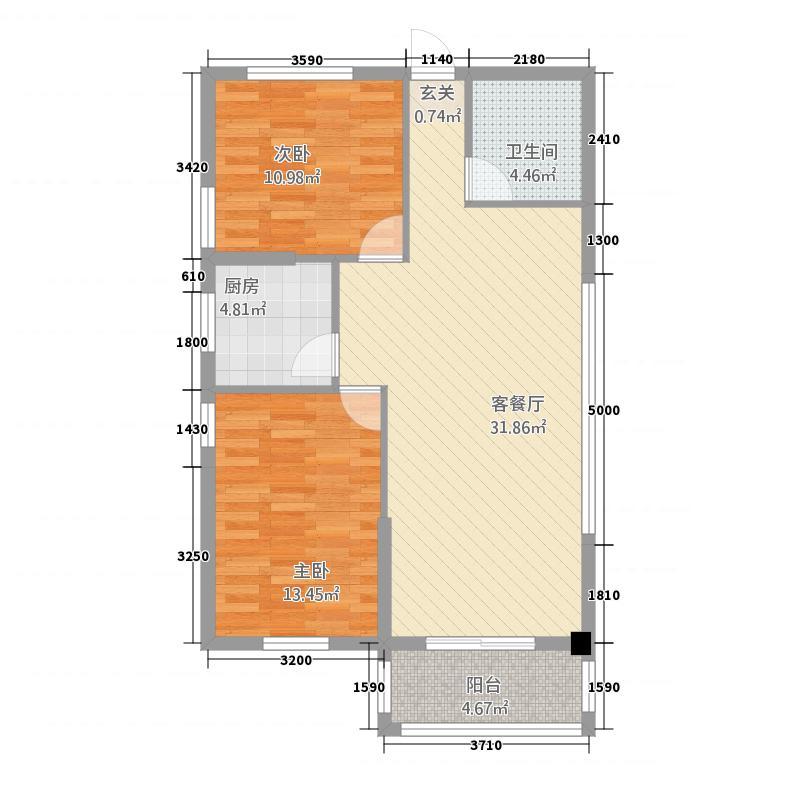 悦心润苑1.20㎡1户型