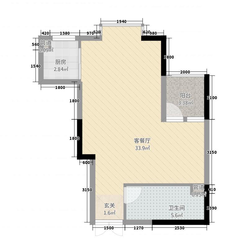 明城大厦户型1室