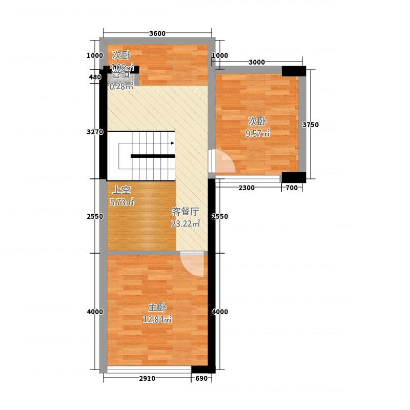 龙光・尚街5.34㎡C二层户型4室2厅1卫1厨