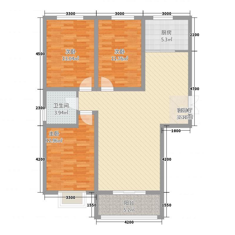 怡翠山庄3128.20㎡户型3室2厅1卫1厨