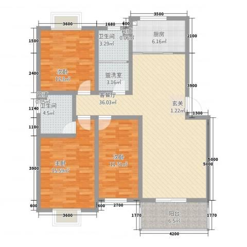 丰林花园3室2厅2卫1厨11129.00㎡户型图
