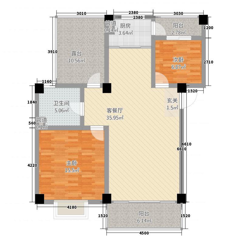 丽江映像414.82㎡B-4-1户型2室2厅1卫