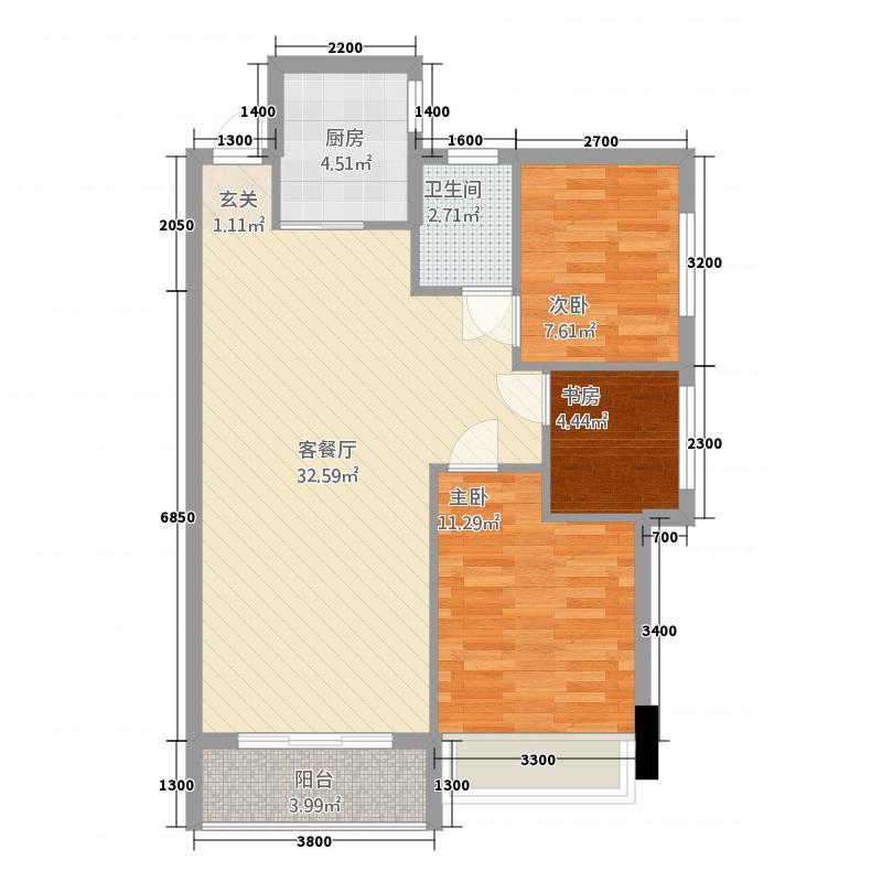 世纪星城33586.20㎡3#楼03/05/12/13单元3室户型3室2厅1卫1厨