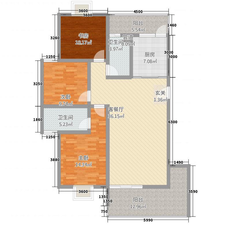 丽江映像13122.52㎡B-1户型3室2厅2卫