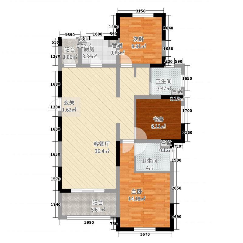 启东伊顿公馆222124.67㎡户型2室2厅2卫1厨