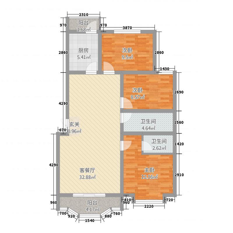 政通8号832118.19㎡D户型3室2厅2卫