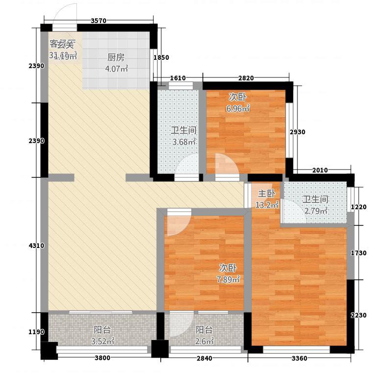 志丰财富公馆HN户型3室2厅2卫1厨