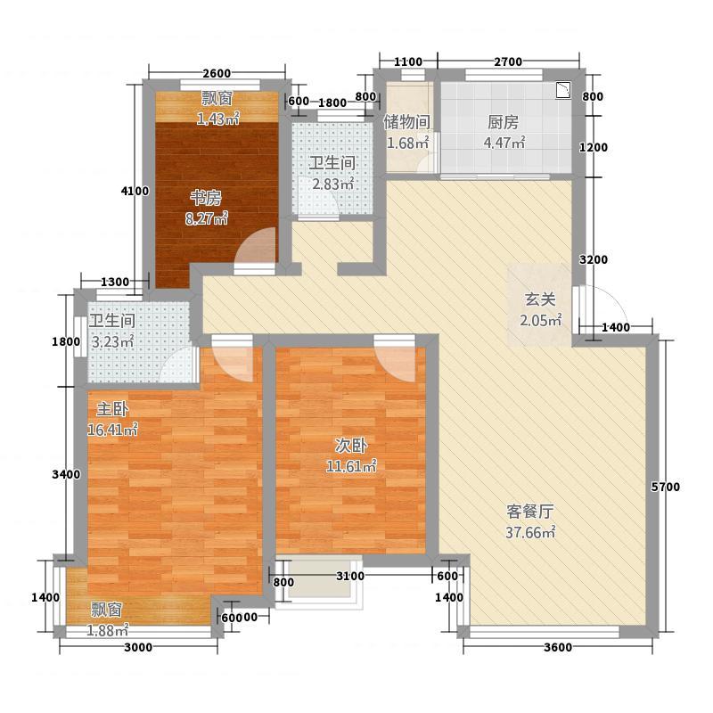 金域水岸32112.20㎡C户型3室2厅2卫1厨