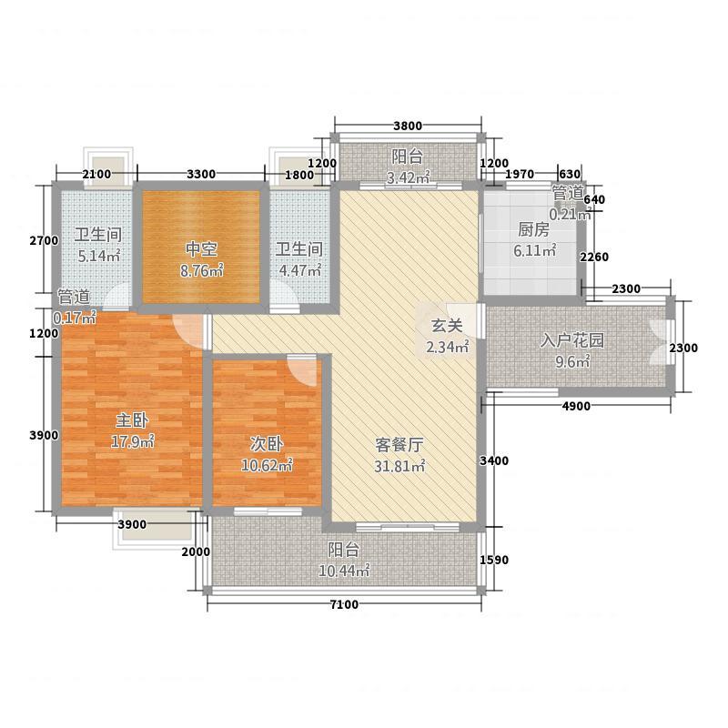 荣盛中央广场128.00㎡10号楼户型