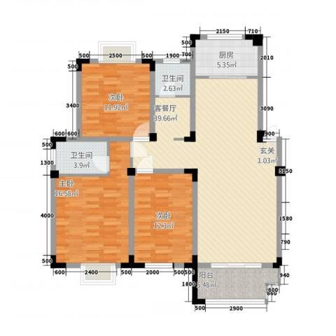 安正御龙湾3室1厅2卫1厨13122.00㎡户型图