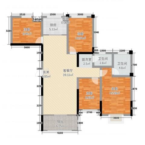 金融街中央领御4室1厅2卫1厨36135.00㎡户型图