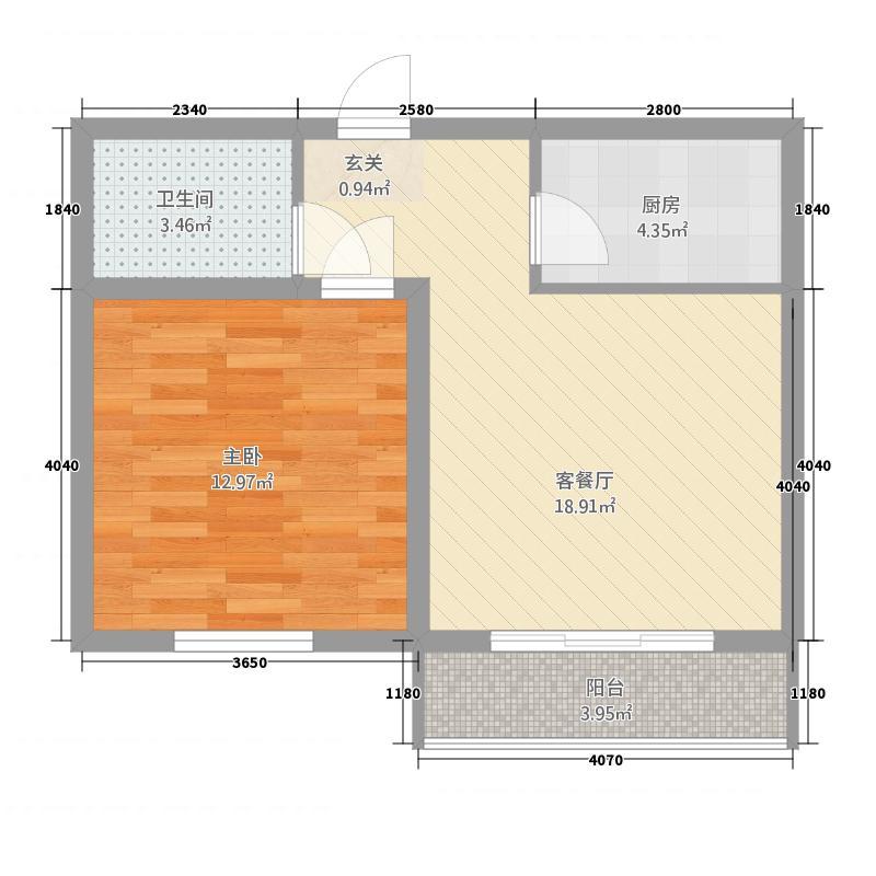 六禾新城155.22㎡D户型1室1厅1卫1厨
