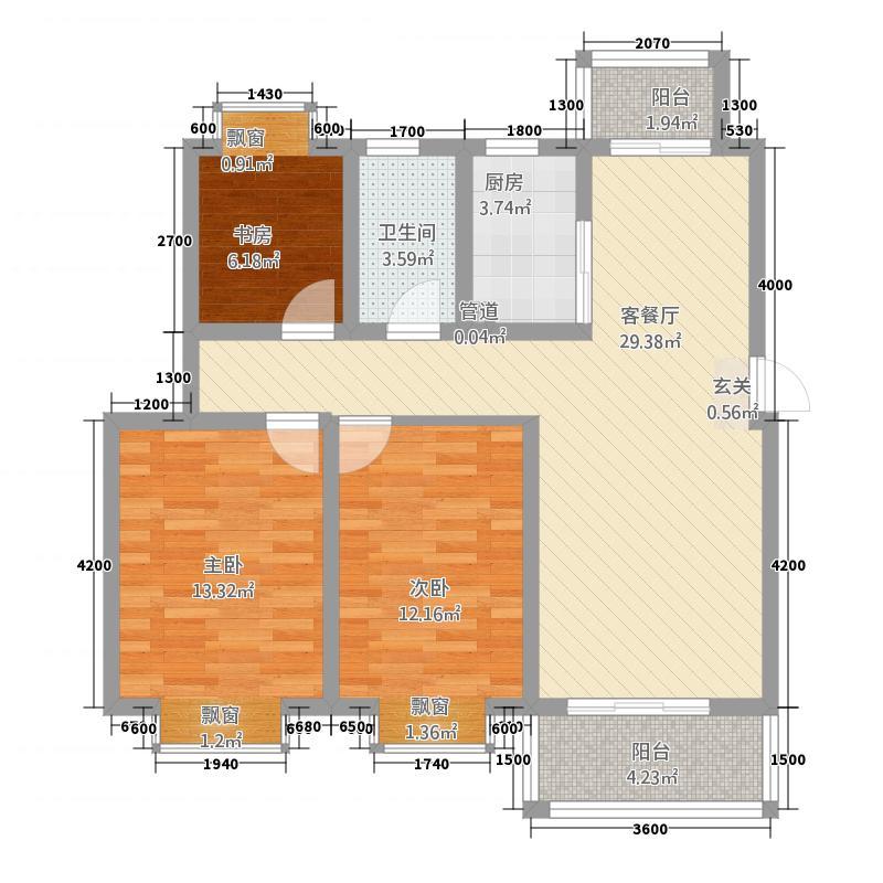嘉逸・岭湾4.82㎡洱谷二期B户型3室2厅2卫1厨