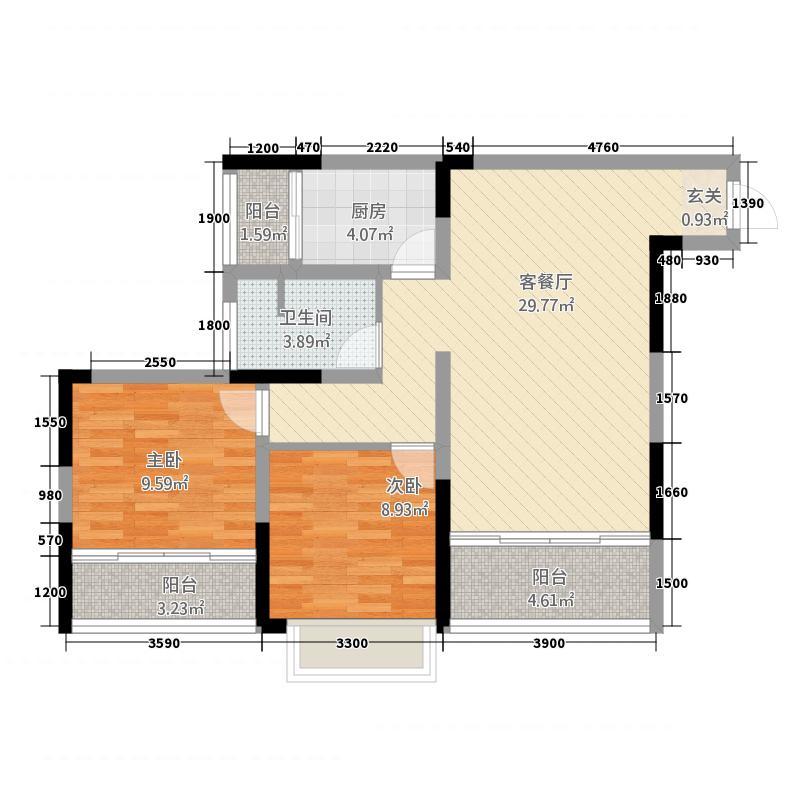 锦绣山水283.65㎡户型2室2厅1卫