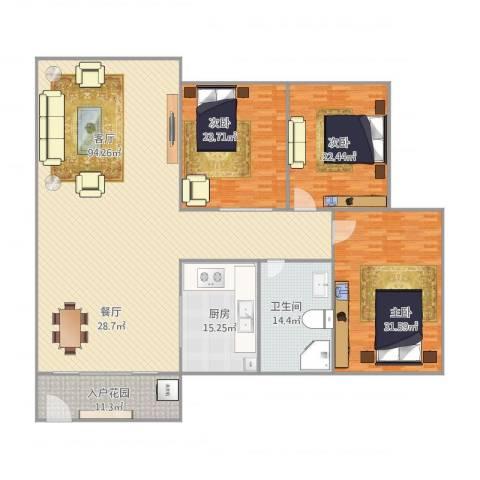 华发新城五期168栋24053室1厅1卫1厨278.00㎡户型图
