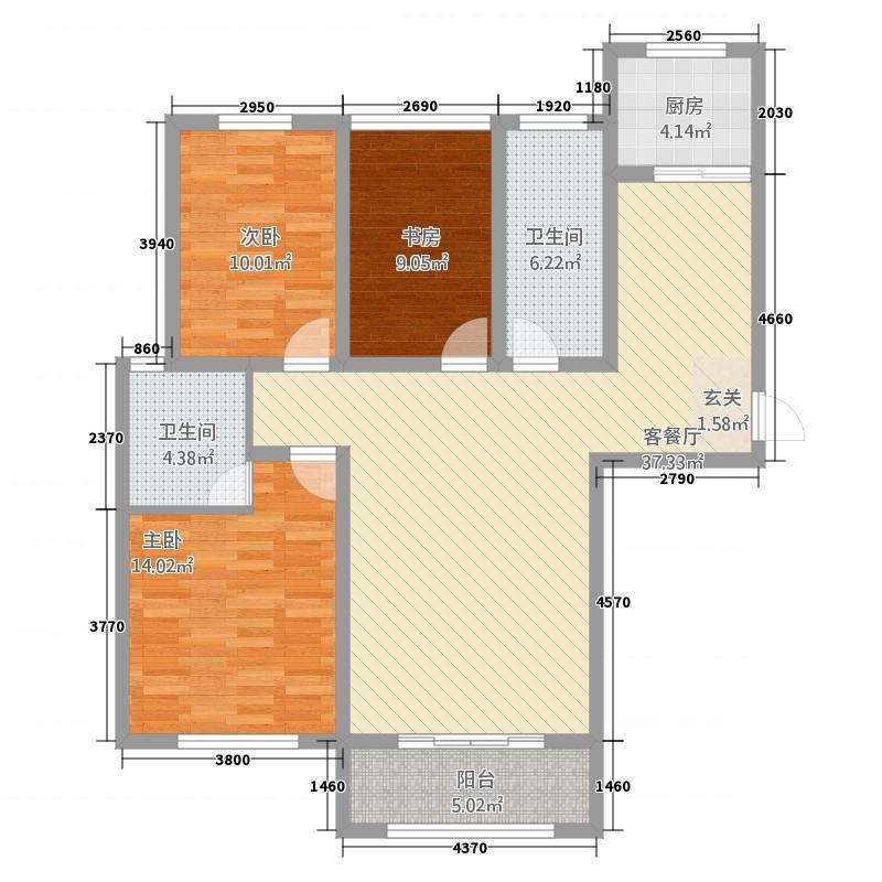 宾悦龙城6312.72㎡户型3室2厅2卫1厨